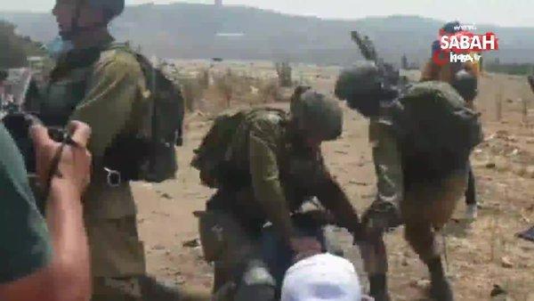 İsrail askerlerinden Filistinli yaşlı adama şiddet | Video