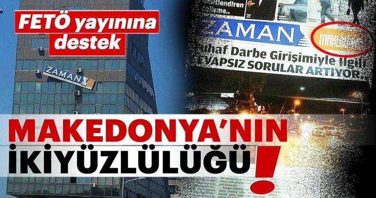 Makedonya hükümetinden FETÖ iltisaklı gazeteye destek