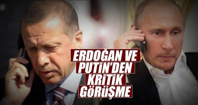 Cumhurbaşkanı Erdoğan ile Putin görüştü!