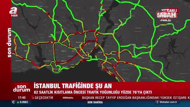 SON DAKİKA: Kısıtlama öncesi İstanbul'da trafik kilitlendi! Bu haritaya dikkat! | Video
