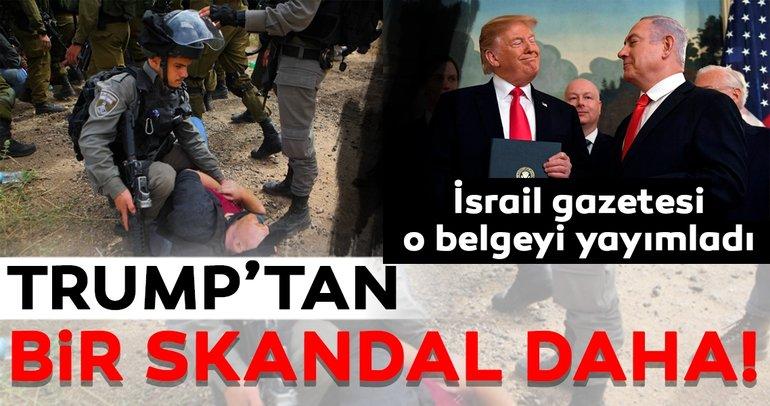 Trump'tan 'Yeni Filistin' skandalı!