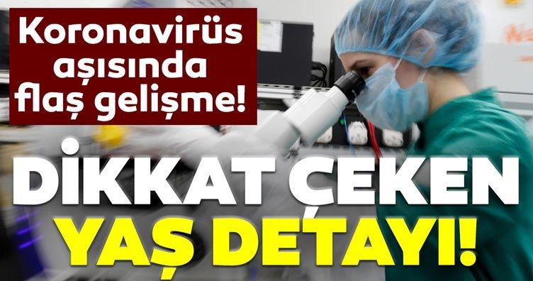 Son dakika haberi: Coronavirüs aşısında flaş gelişme! Dikkat çeken yaş grubu detayı...