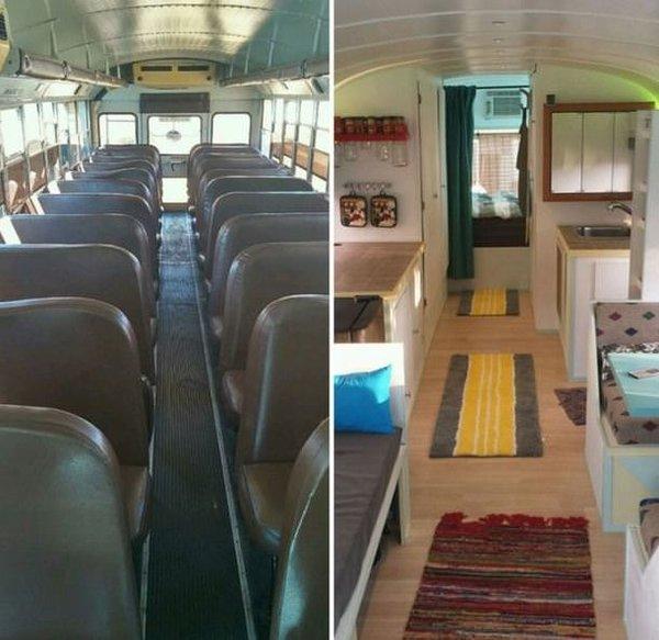 Otobüsü eve çevirdiler!