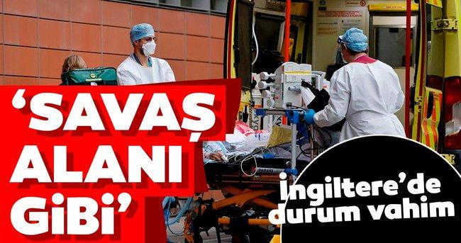 Son dakika: İngiltere'de durum vahim: Koronavirüs salgınında rekor ölüm: Hastaneler savaş alanı gibi