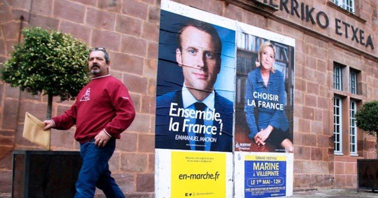 Macron'un yüzde 62 ile açık ara önde gidiyor