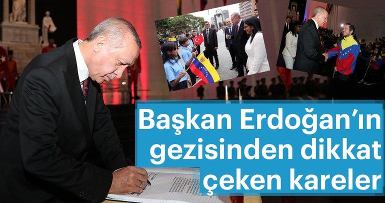 Başkan Erdoğan'ın Venezuela gezisinden dikkat çeken kareler