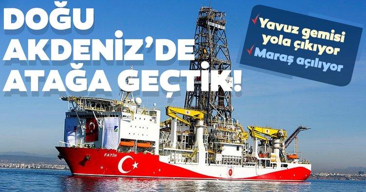 Doğu Akdeniz'de atağa geçtik!  Yavuz gemisi yola çıkıyor