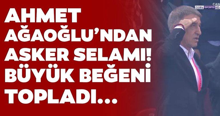 Trabzonspor Başkanı Ahmet Ağaoğlu'ndan asker selamı!