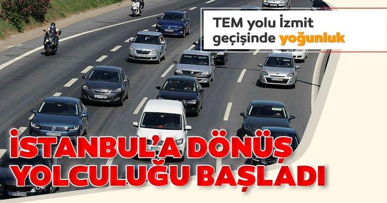 Tatilcilerin İstanbul'a dönüş yolculuğu başladı