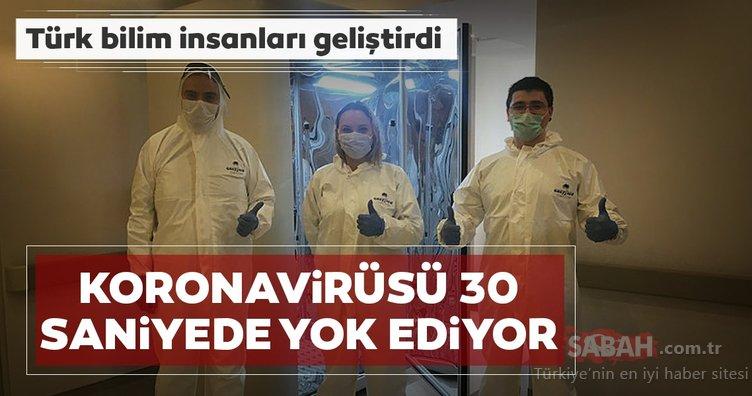 Türk bilim insanları geliştirdi! Coronavirüsü 30 saniyede öldüren kabin