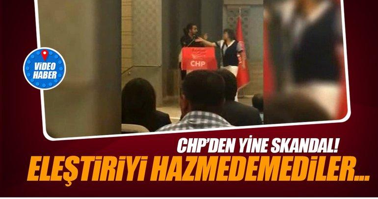 CHP toplantısında skandal! Eleştiriyi hazmedemediler