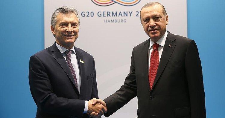 Cumhurbaşkanı Erdoğan, Arjantin Devlet Başkanı Macri ile görüştü