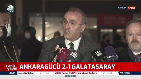 Ankaragücü-Galatasaray maçı sonrası Abdurrahim Albayrak'tan hakem isyanı!