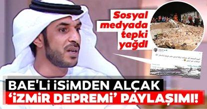 BAE'li isimden alçak İzmir depremi paylaşımı! Sosyal medyada tepki yağdı...