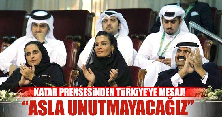 Katar Prensesinden Türkiye'ye mesaj! Asla...