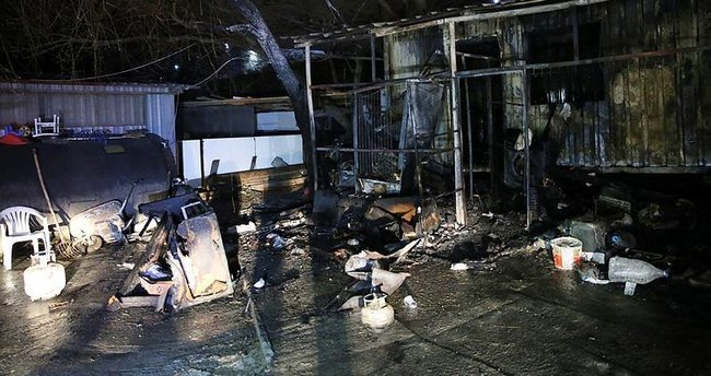 İşçilerin kaldığı barakada yangın: 1 ölü 1 yaralı