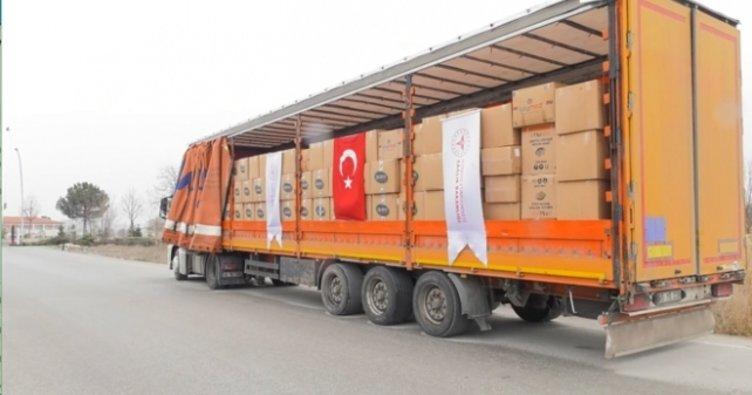 Türkiye'nin gönderdiği sağlık malzemeleri İran'a ulaştı