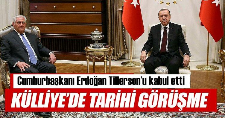 Ankara'da tarihi Erdoğan-Tillerson zirvesi