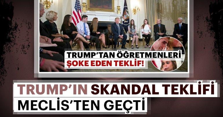 Trump'ın skandal silahlanma teklifi meclisten geçti