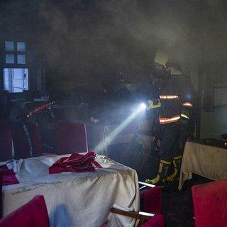 Başkent'te restoranda yangın çıktı