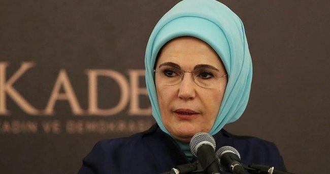 """Emine Erdoğan: """"Mazlumların hakkını savunmak bizim için bir onurdur"""""""