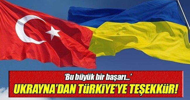 Ukrayna'dan Türkiye'ye teşekkür!