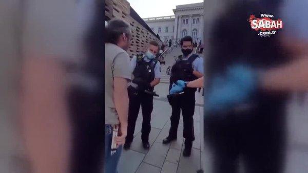 Alman polisinden görme engelli kişiye şiddet! | Video