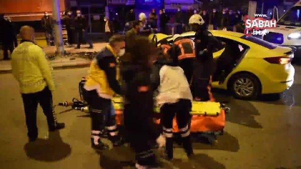 Malatya'da feci kaza! Araçta sıkışan taksi şoförü öldü | Video