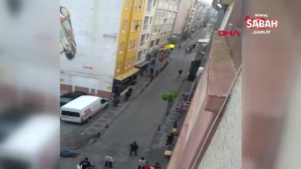 Kadıköy'de silahlı çatışma! Kavganın görüntülerini 'Rambo Okan' çekti   Video