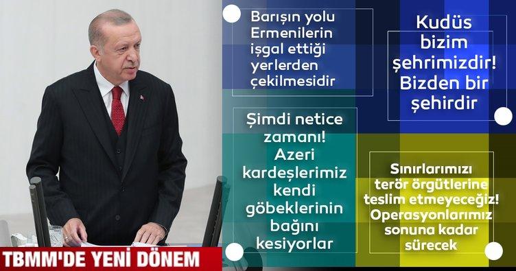 Son dakika: Başkan Recep Tayyip Erdoğan'dan TBMM'de flaş açıklamalar