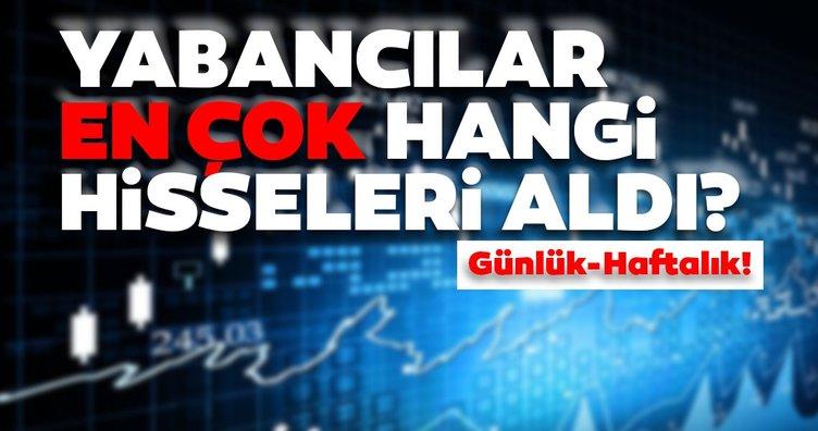 Borsa İstanbul'da günlük-haftalık yabancı payları 15/09/2020