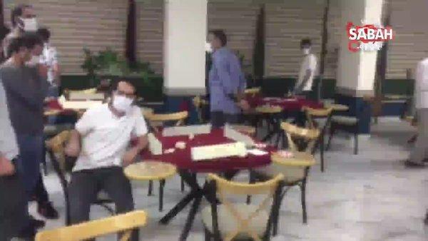 Polis ekiplerinden kafeye baskın: 25 kişiye 86 bin lira ceza   Video