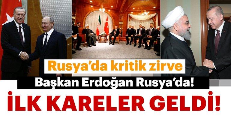 Başkan Erdoğan ve Ruhani'den kritik görüşme! İlk kareler geldi