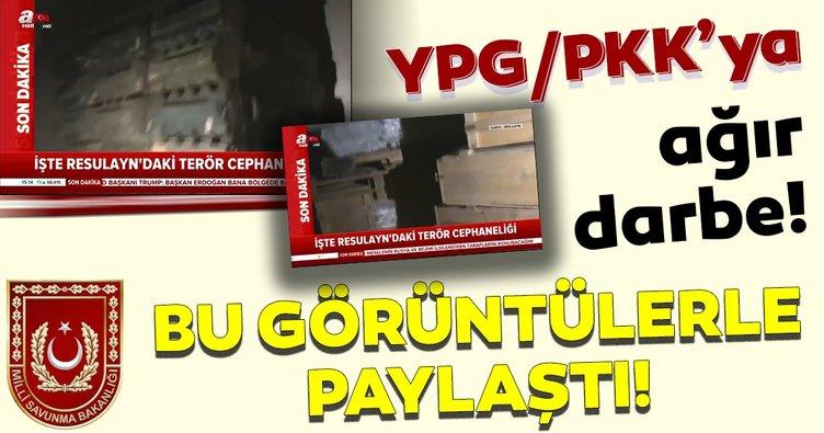 PKK/YPG'ye ait büyük miktarda silah ve  mühimmatın bulunduğu cephanelik ele geçirildi