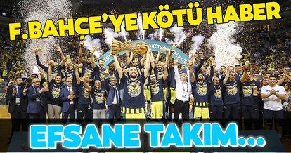 Fenerbahçe Beko'ya kötü haber! Efsane takım dağılıyor