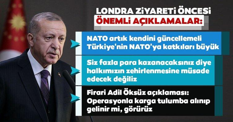 Başkan Erdoğan'dan NATO Zirvesi öncesi önemli açıklamalar