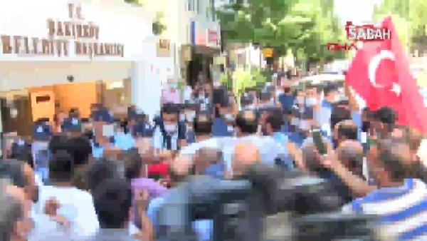 Son Dakika Haberi: Bakırköy Belediyesi önünde arbede | Video
