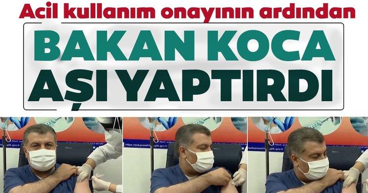 SON DAKİKA HABERİ: Sağlık Bakanı Fahrettin Koca canlı yayında koronavirüs aşısı yaptırdı