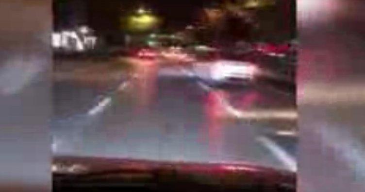 Bağdat Caddesi'nde trafik magandası kamerada