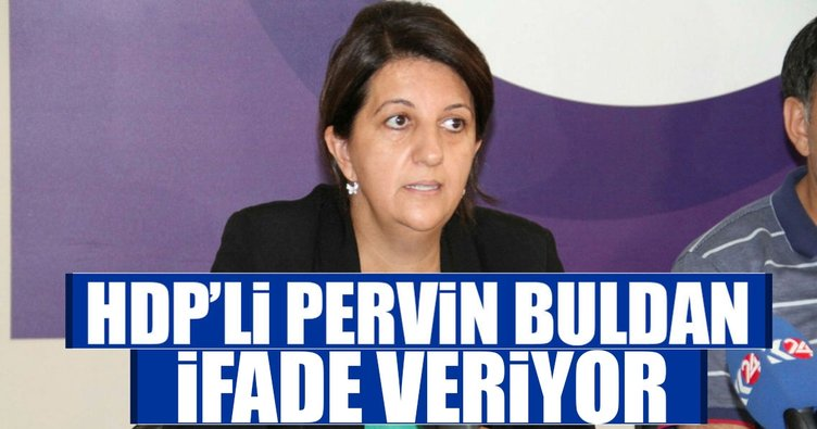 HDP'li Pervin Buldan ifade veriyor