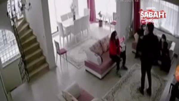 Koruma tedbiri olan baba, 4 aylık Asya'yı camdan atlayarak böyle kaçırdı | Video
