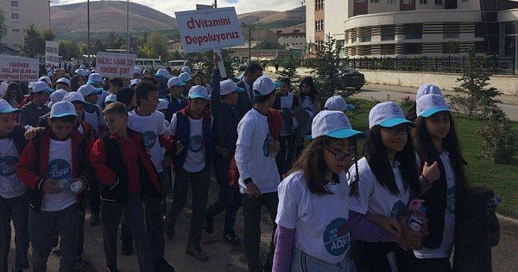 Bayburt'ta dünya yürüyüş günü etkinliği