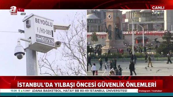 Taksim Meydanı'nda yılbaşı önlemleri alınmaya başlandı