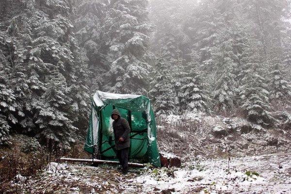 Kartalkaya'ya yılın ilk karı düştü