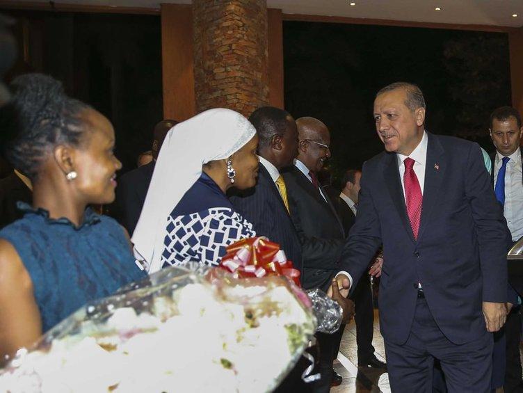 Cumhurbaşkanı Tayyip Erdoğan Uganda'da