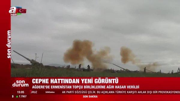 Son dakika haberi... Azerbaycan cephe hattından yeni görüntü! Ermenistan topçu birliklerine ağır hasar verildi | Video