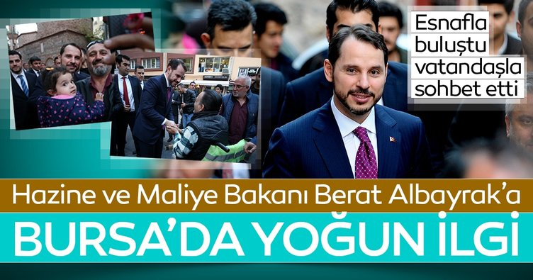 Hazine ve Maliye Bakanı Berat Albayrak esnafla görüştü
