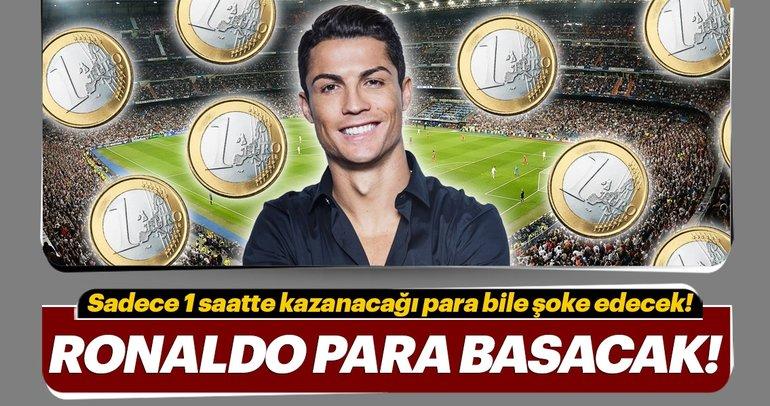 İşte Cristiano Ronaldo'nun Juventus'ta 1 saatte kazanacağı para!