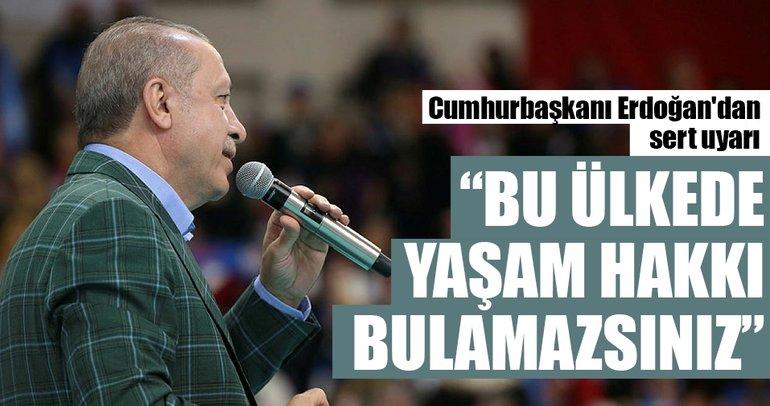 Cumhurbaşkanı Erdoğan:  Bize kur savaşı ilan ettiler. Ne ilan ederseniz edin, avucunuzu yalarsınız