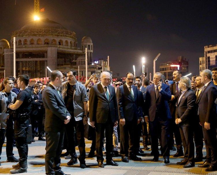 Cumhurbaşkanı Erdoğan, Taksim Camii inşaatını ve AKM'yi inceledi